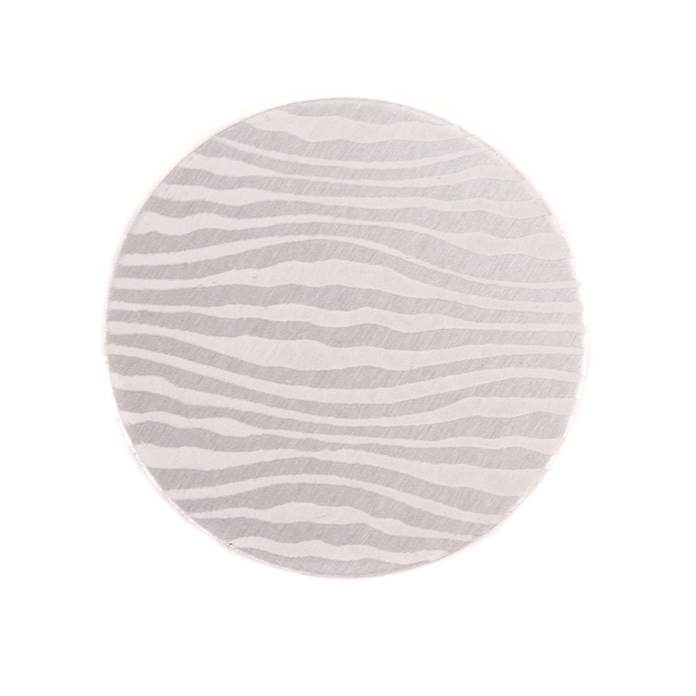 "Anodized Aluminum 3/4"" Circle, Silver, Design #18, 22g"
