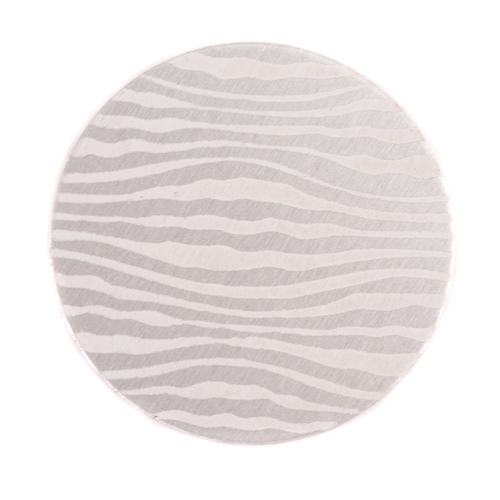 "Dregs Anodized Aluminum 1"" Circle, Silver, Design #18, 22g"