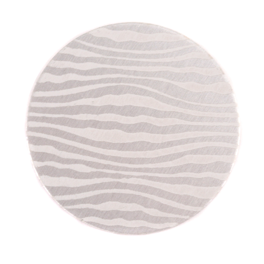 "Anodized Aluminum 1"" Circle, Silver, Design #18, 22g"