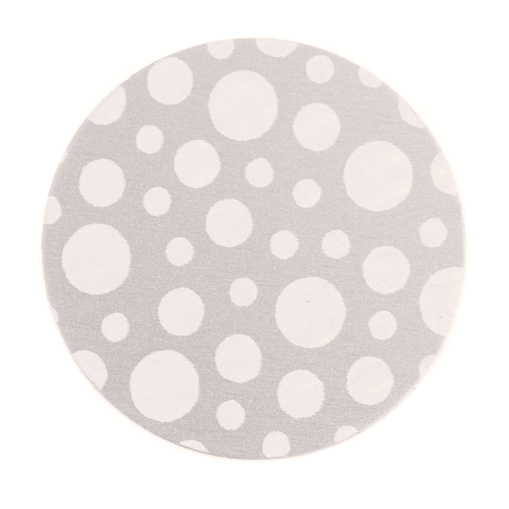 "Anodized Aluminum 1"" Circle, Silver, Design #12, 22g"