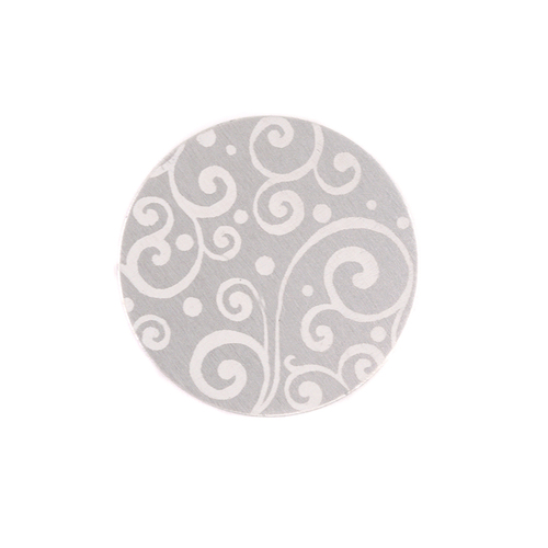 "Dregs Anodized Aluminum 5/8"" Circle, Silver, Design #21, 22g"