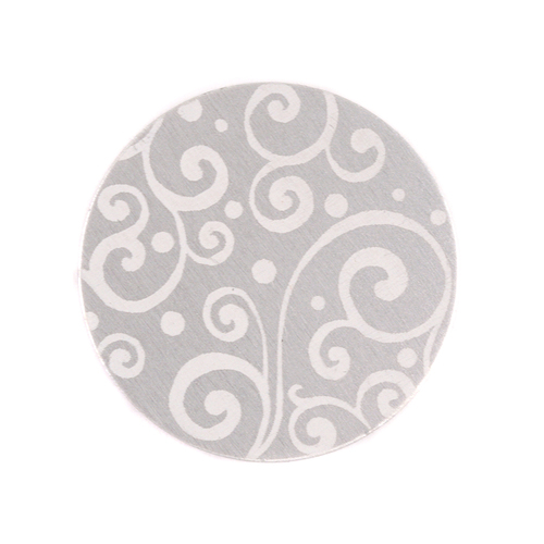 "Dregs Anodized Aluminum 3/4"" Circle, Silver, Design #21, 22g"