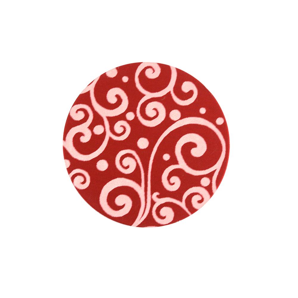 "Anodized Aluminum 5/8"" Circle, Red, Design #21, 22g"