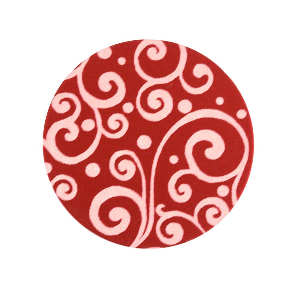 "Anodized Aluminum 3/4"" Circle, Red, Design #21, 22g"