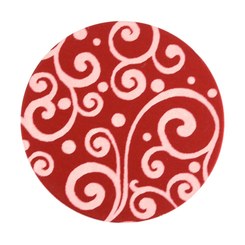 "Anodized Aluminum 1"" Circle, Red, Design #21, 22g"