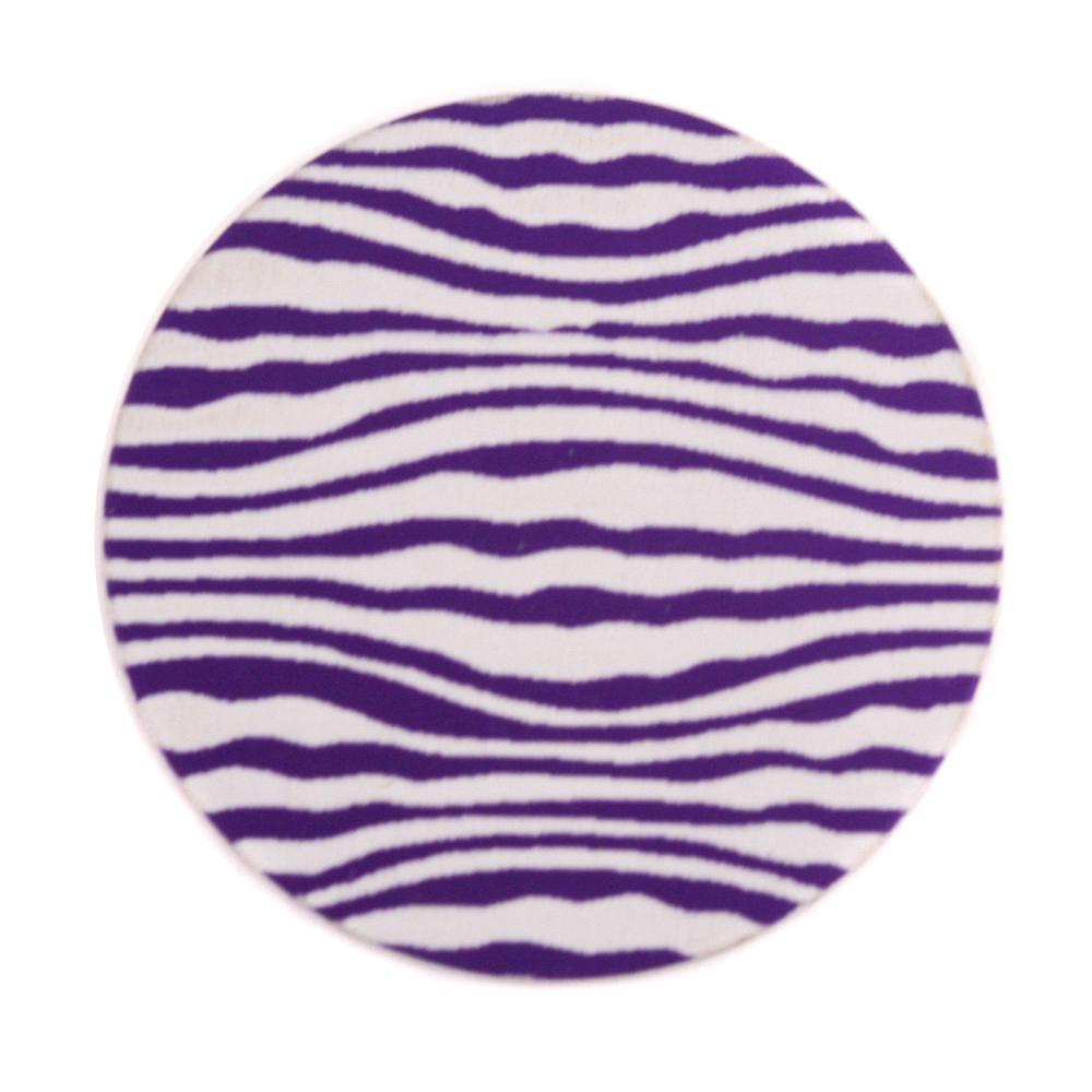"Anodized Aluminum 1"" Circle, Purple, Design #18, 22g"