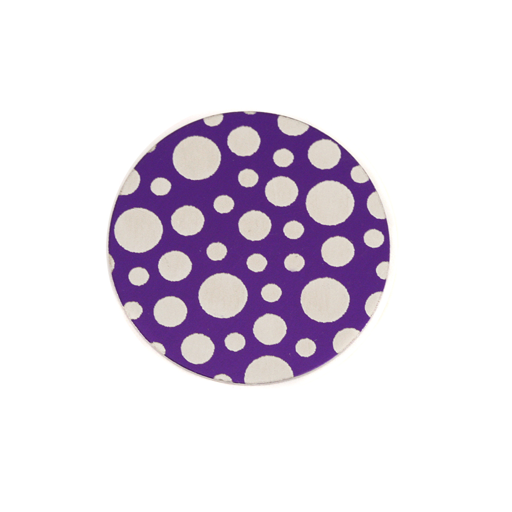 "Anodized Aluminum 5/8"" Circle, Purple, Design #12, 22g"