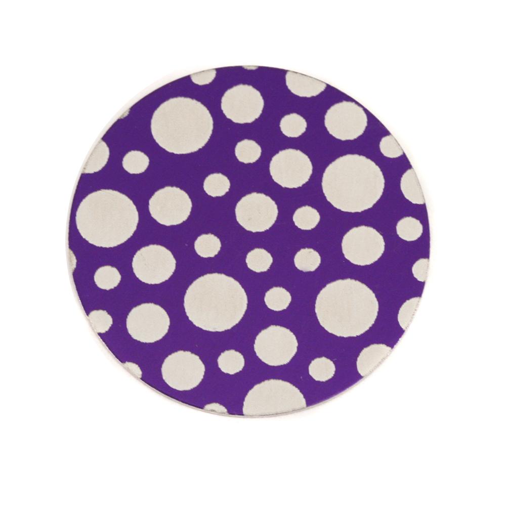 "Anodized Aluminum 3/4"" Circle, Purple, Design #12, 22g"
