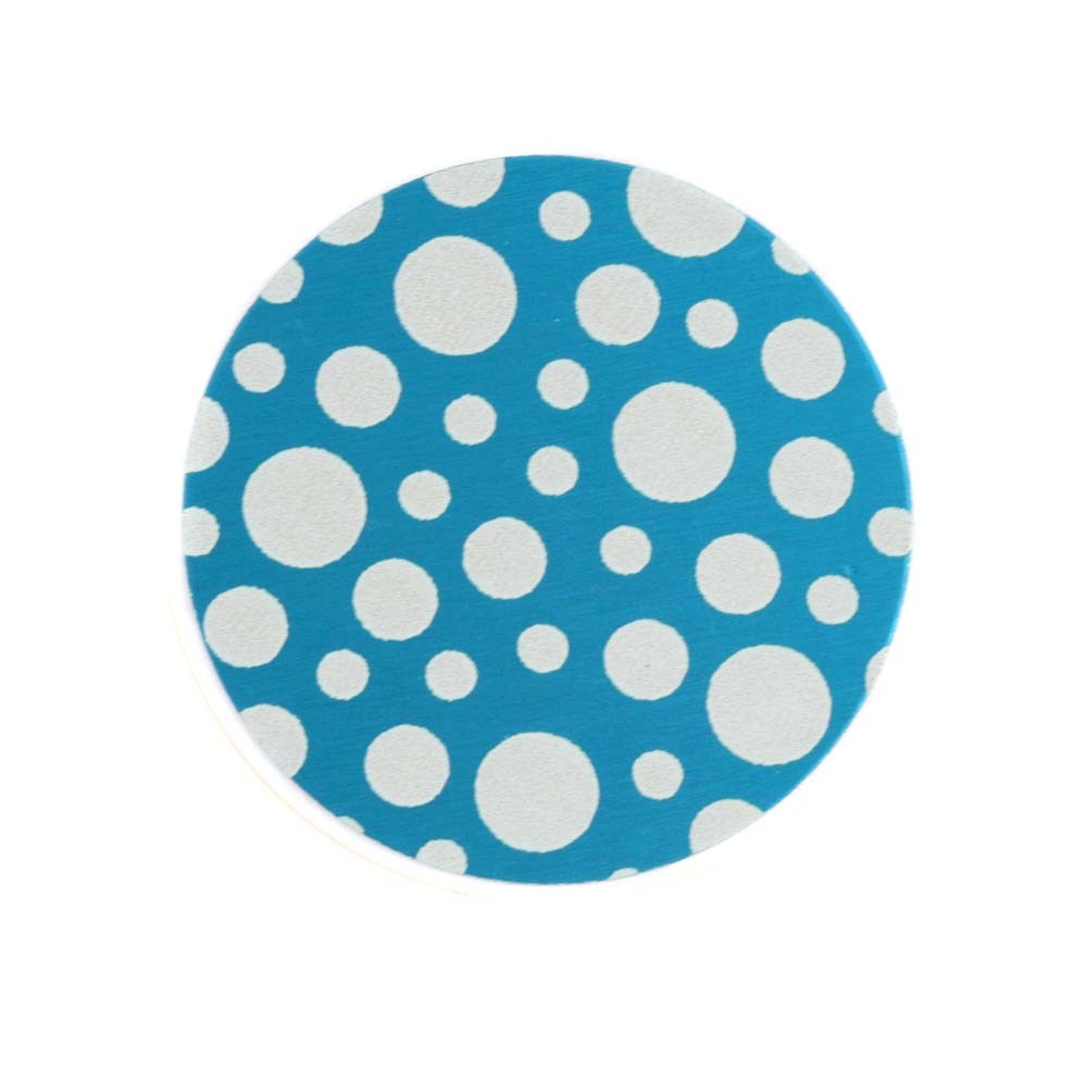 "Anodized Aluminum 3/4"" Circle, Turquoise, Design #12, 22g"