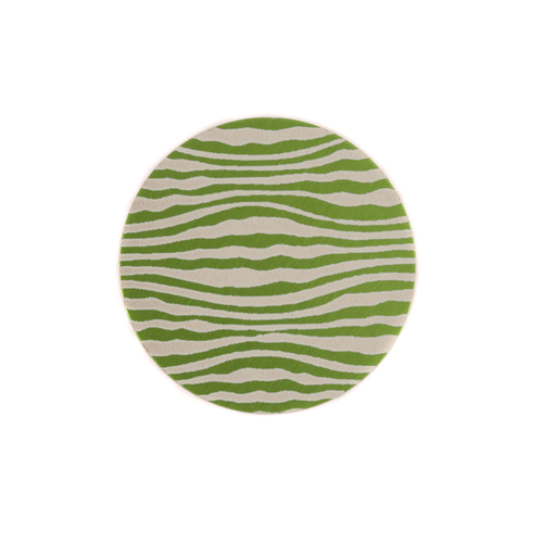 "Dregs Anodized Aluminum 5/8"" Circle, Lime Green, Design #18, 22g"