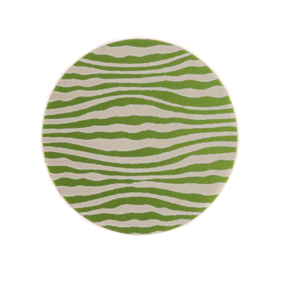 "Anodized Aluminum 3/4"" Circle, Lime Green, Design #18, 22g"