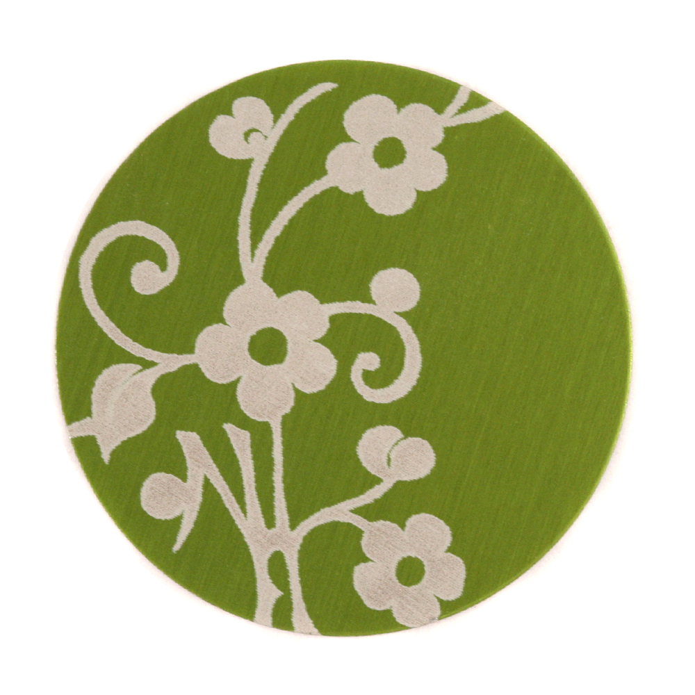 "Anodized Aluminum 1"" Circle, Lime Green, Design #1, 22g"