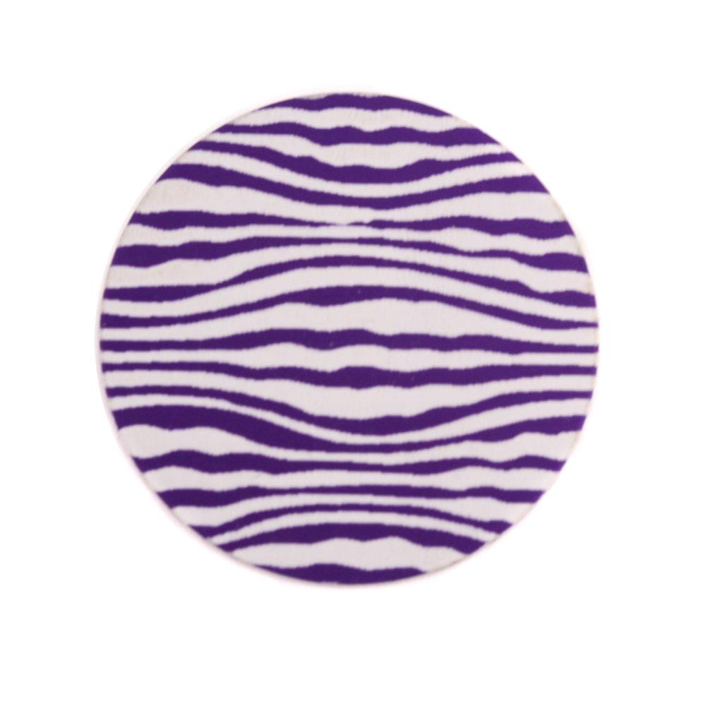 "Anodized Aluminum 3/4"" Circle, Purple, Design #18, 22g"