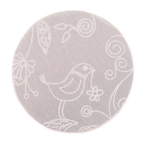 "Dregs Anodized Aluminum 1"" Circle, Silver, Design #22, 22g"