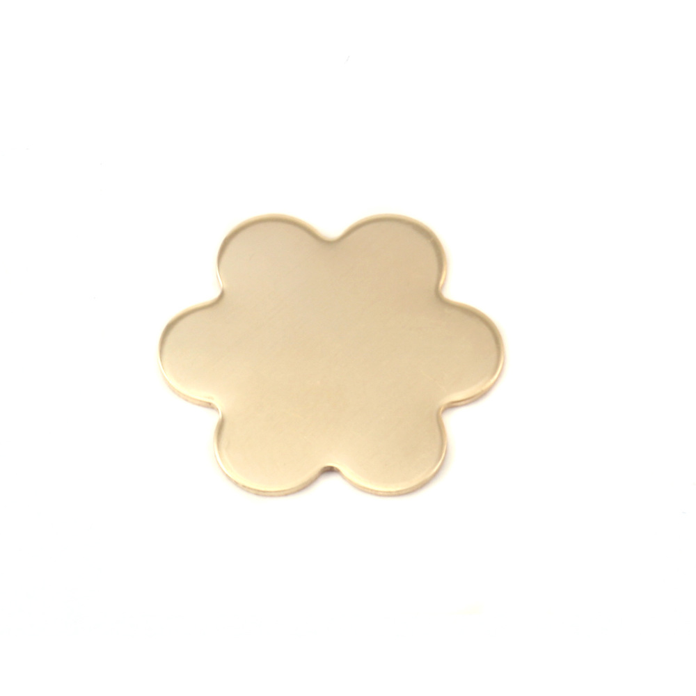 "Metal Stamping Blanks Brass Flower with 6 Petals, 19.5mm (.77""), 24g"