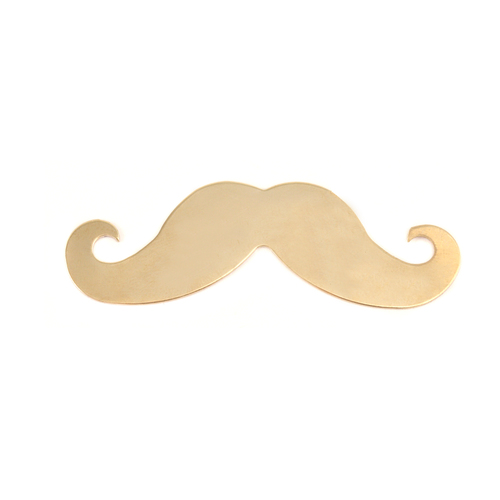 Metal Stamping Blanks Brass Mustache, 24g - Blond