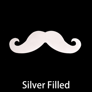 Metal Stamping Blanks Silver Filled Mustache, 24g - Distinguished