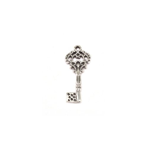 Charms & Solderable Accents Sterling Silver Skeleton Key Charm