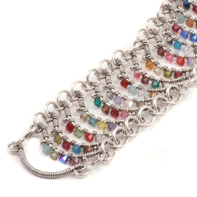 Jeweled Wave Bracelet Online Class with Barb Switzer