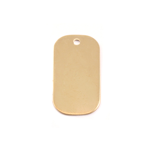 Metal Stamping Blanks Brass Small Dog Tag, 24g