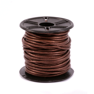 Leather & Faux Leather Leather Cord, Round 1.5mm, Metallic Bronze 32.8 ft