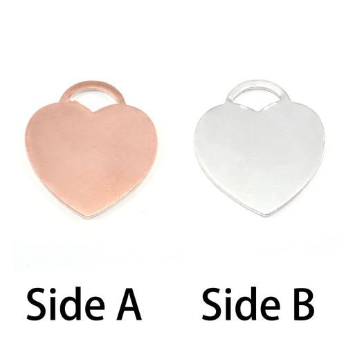 "Metal Stamping Blanks Single Clad ""Tiffany"" Style Heart, 18g"