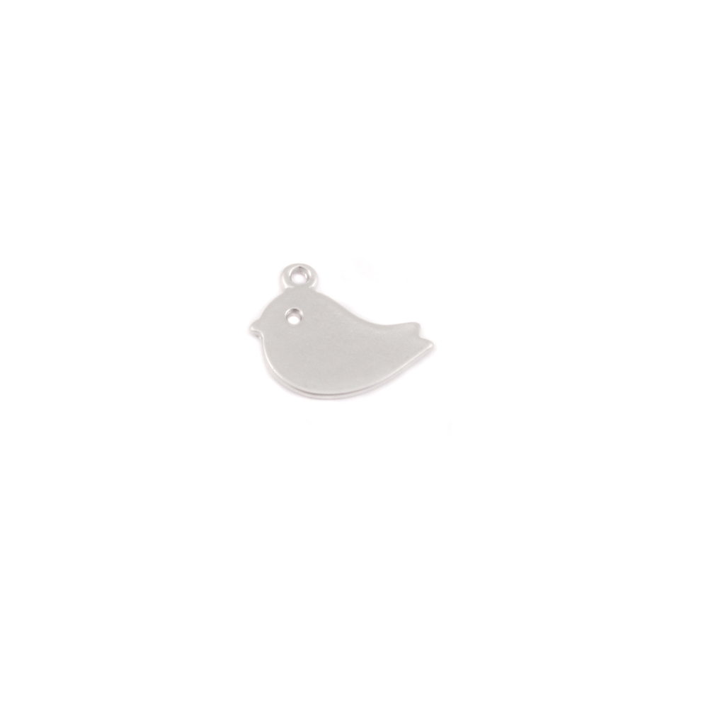 Charms & Solderable Accents Plated Silver Charm: Adorable Bird
