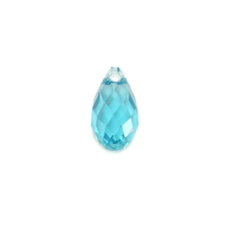 Charms & Solderable Accents Swarovski Crystal Briolette - Blue Zircon (DECEMBER)
