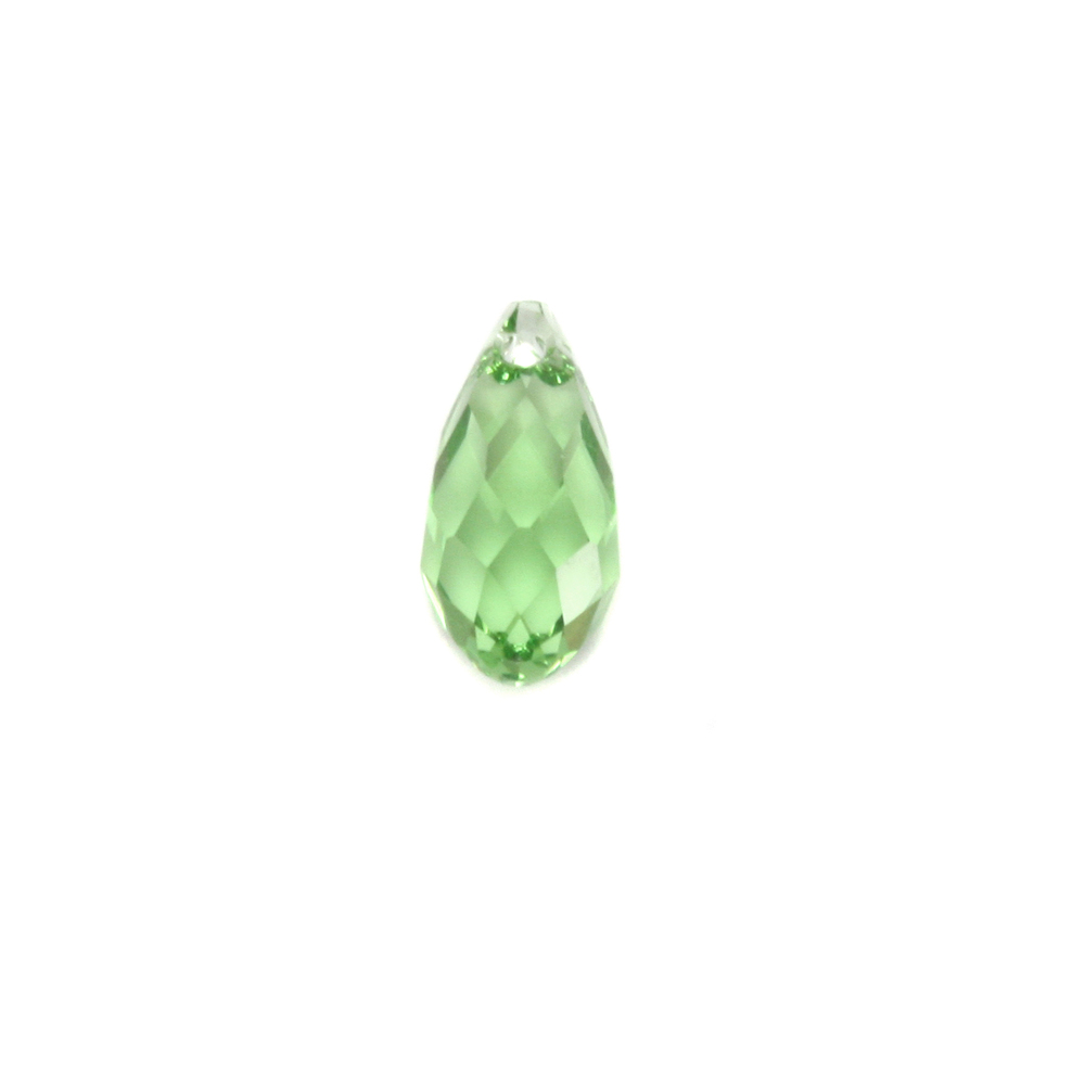 Charms & Solderable Accents Swarovski Crystal Briolette - Peridot (AUGUST)