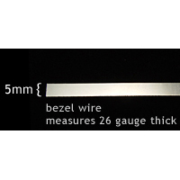 "Wire & Sheet Metal Sterling Silver 5mm Bezel Wire, 18"" Length"