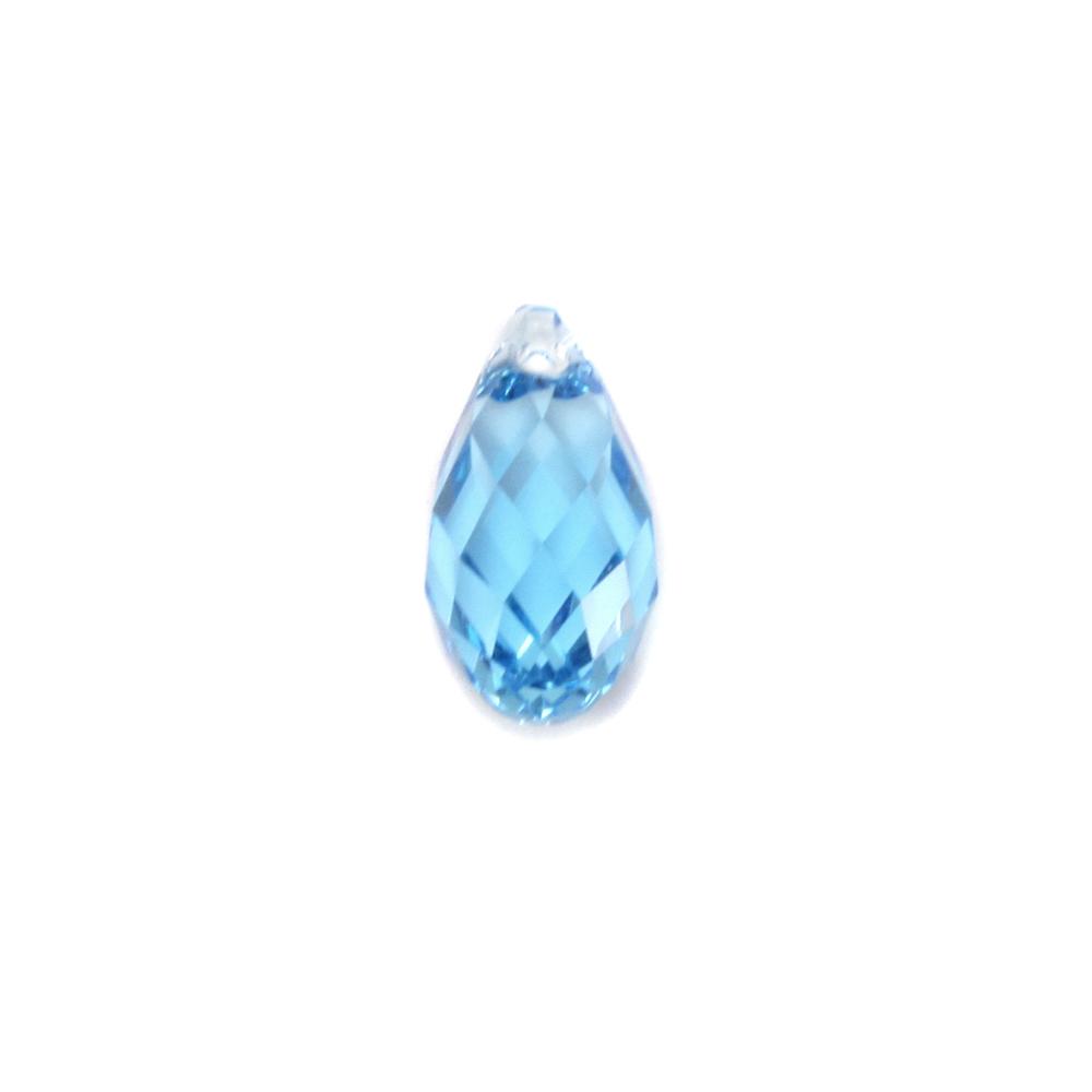 Charms & Solderable Accents Swarovski Crystal Briolette - Aquamarine (MARCH)