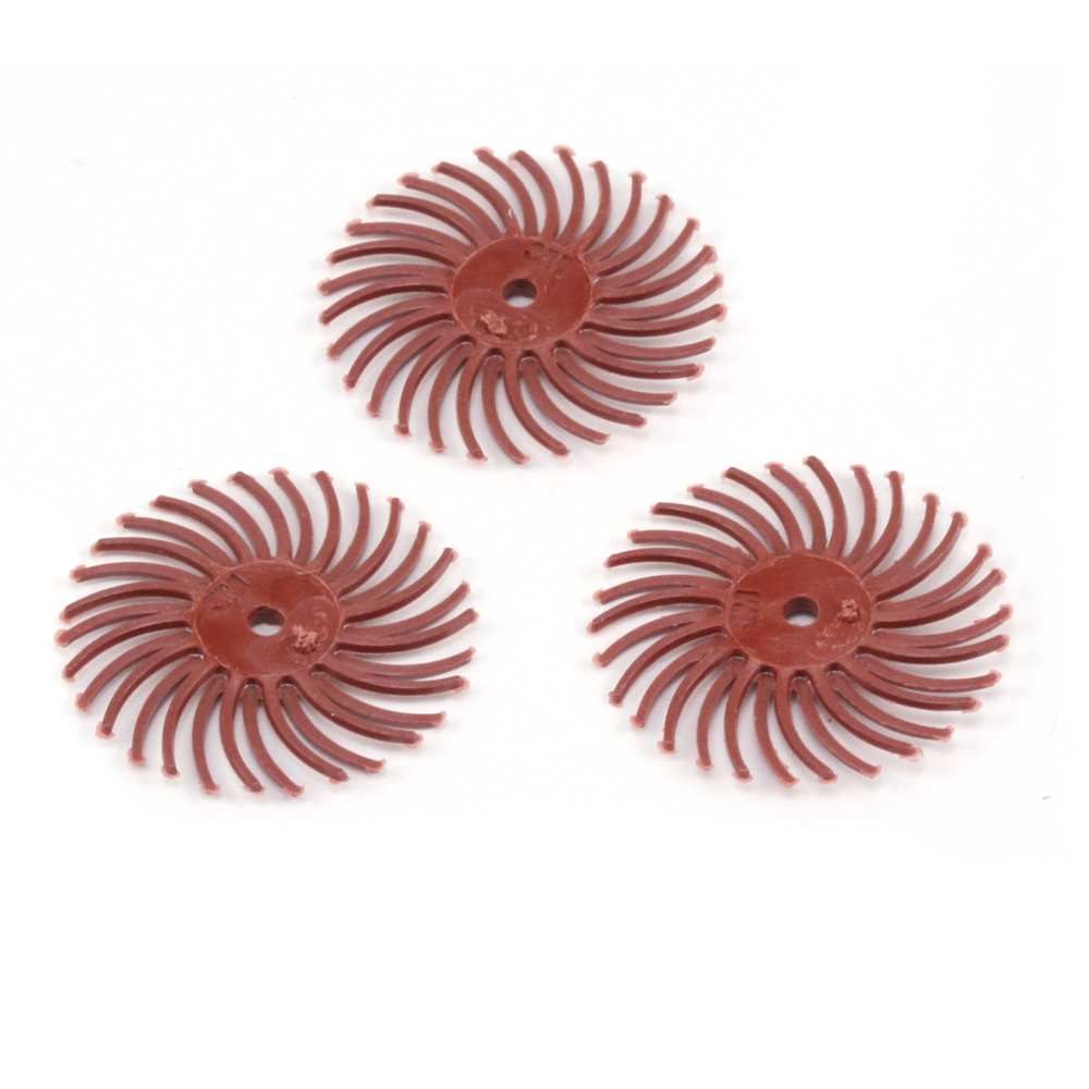 "Jewelry Making Tools 3M Radial Disc 3/4"" 220 grit (Red) - 3 Pack"