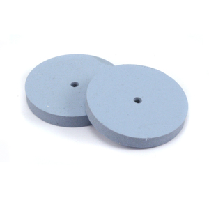 "Jewelry Making Tools Silicone Polishing Wheel, Square Edge - Blue 7/8"" Fine, 2pk"