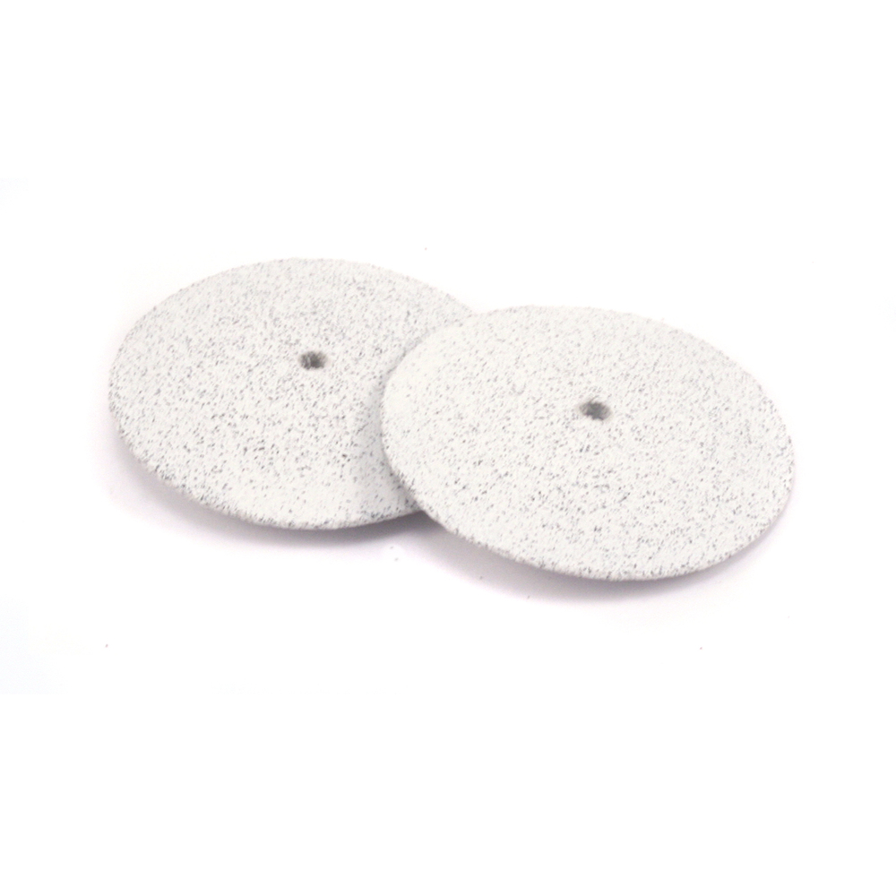 "Jewelry Making Tools Silicone Polishing Wheel, Knife Edge - White 7/8"" Coarse, 2pk"