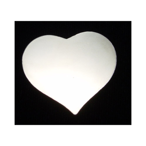 "Metal Stamping Blanks Sterling Silver Puffy Heart, 24mm (.94"") x 21.5mm (.85""), 20g"
