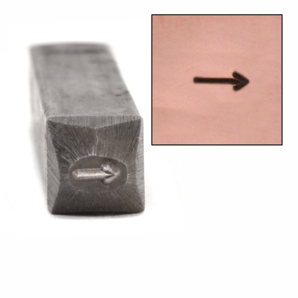 "Metal Stamping Tools Simple Arrow Design Stamp, 1/8"""