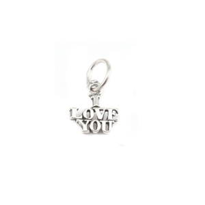 "Charms & Solderable Accents Sterling Silver ""I Love You"" Charm"