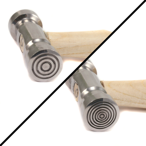 Jewelry Making Tools Double Faced Texture Hammer Wide/Thin Bullseye