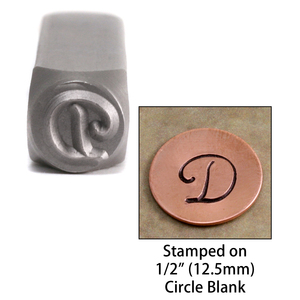 "Metal Stamping Tools Monogram Letter ""D""  6mm"