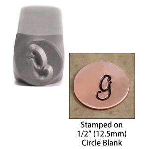 "Metal Stamping Tools Monogram Letter ""G""  6mm"