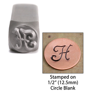 "Metal Stamping Tools Monogram Letter ""H""  6mm"