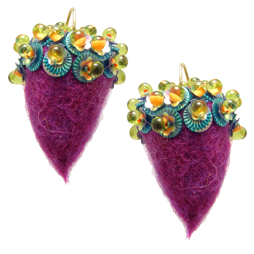 Felted Acorn Earrings with Gail Crosman Moore