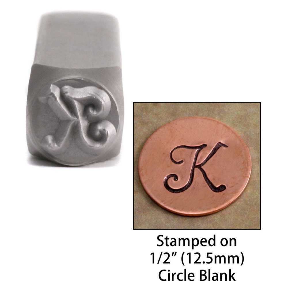 "Metal Stamping Tools Monogram Letter ""K""  6mm"