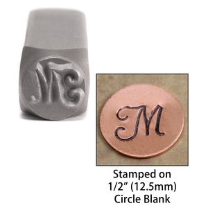 "Metal Stamping Tools Monogram Letter ""M""  6mm"