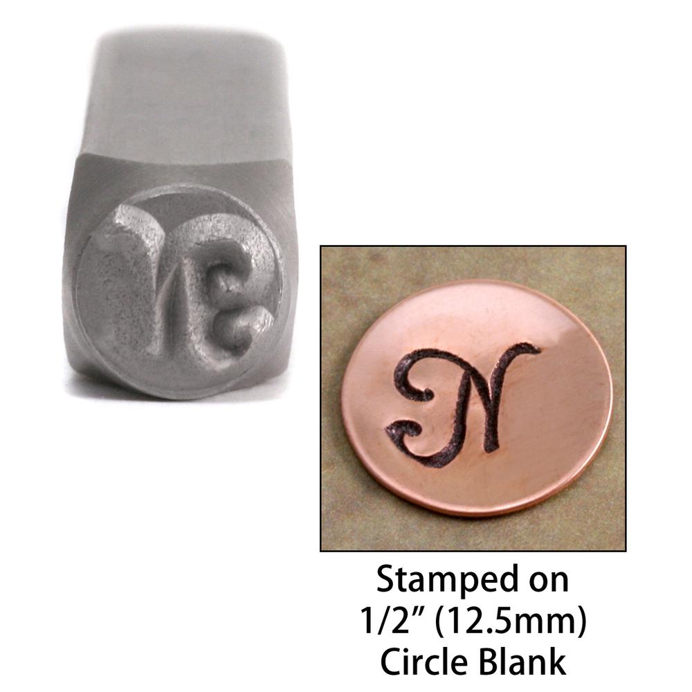 "Metal Stamping Tools Monogram Letter ""N""  6mm"