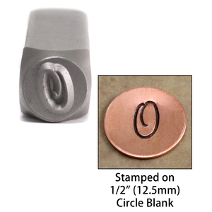 "Metal Stamping Tools Monogram Letter ""O""  6mm"