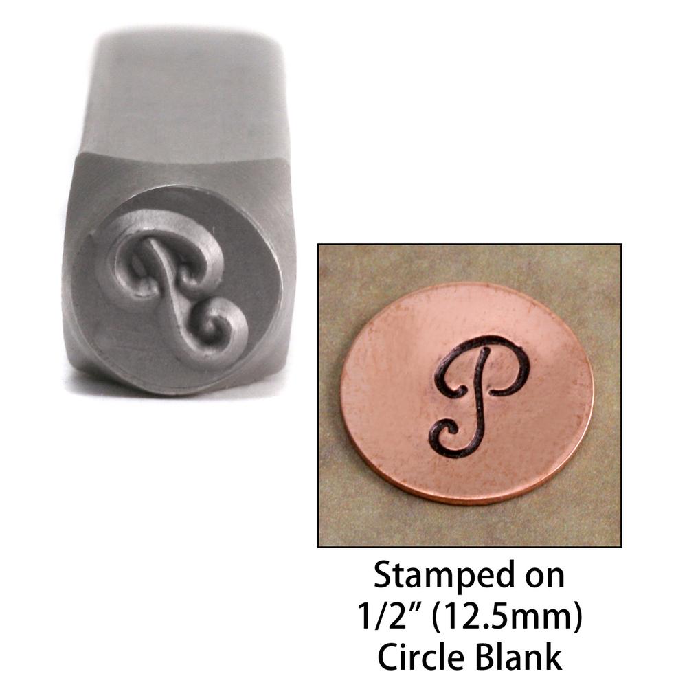 "Metal Stamping Tools Monogram Letter ""P""  6mm"