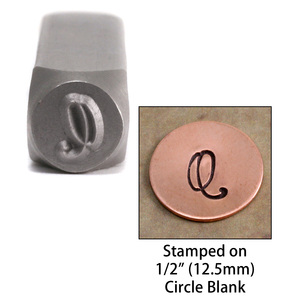 "Metal Stamping Tools Monogram Letter ""Q""  6mm"
