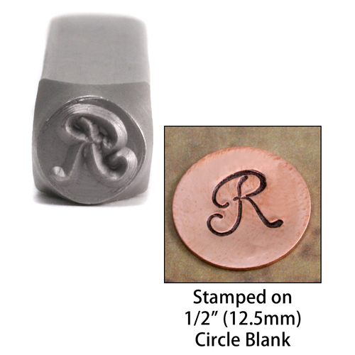 "Metal Stamping Tools Monogram Letter ""R""  6mm"