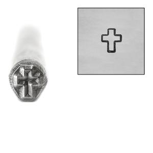 Metal Stamping Tools Cross Metal Design Stamp, 5mm